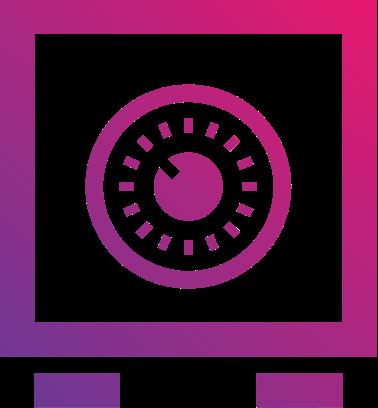 Safe icon to represent privacy
