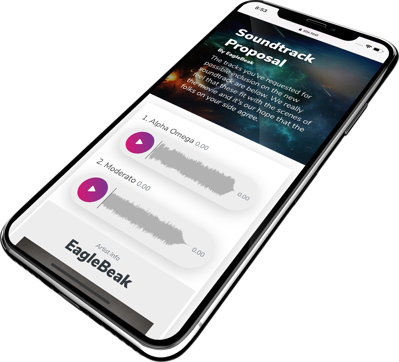 SongBox Mobile Screenshot - Notifications