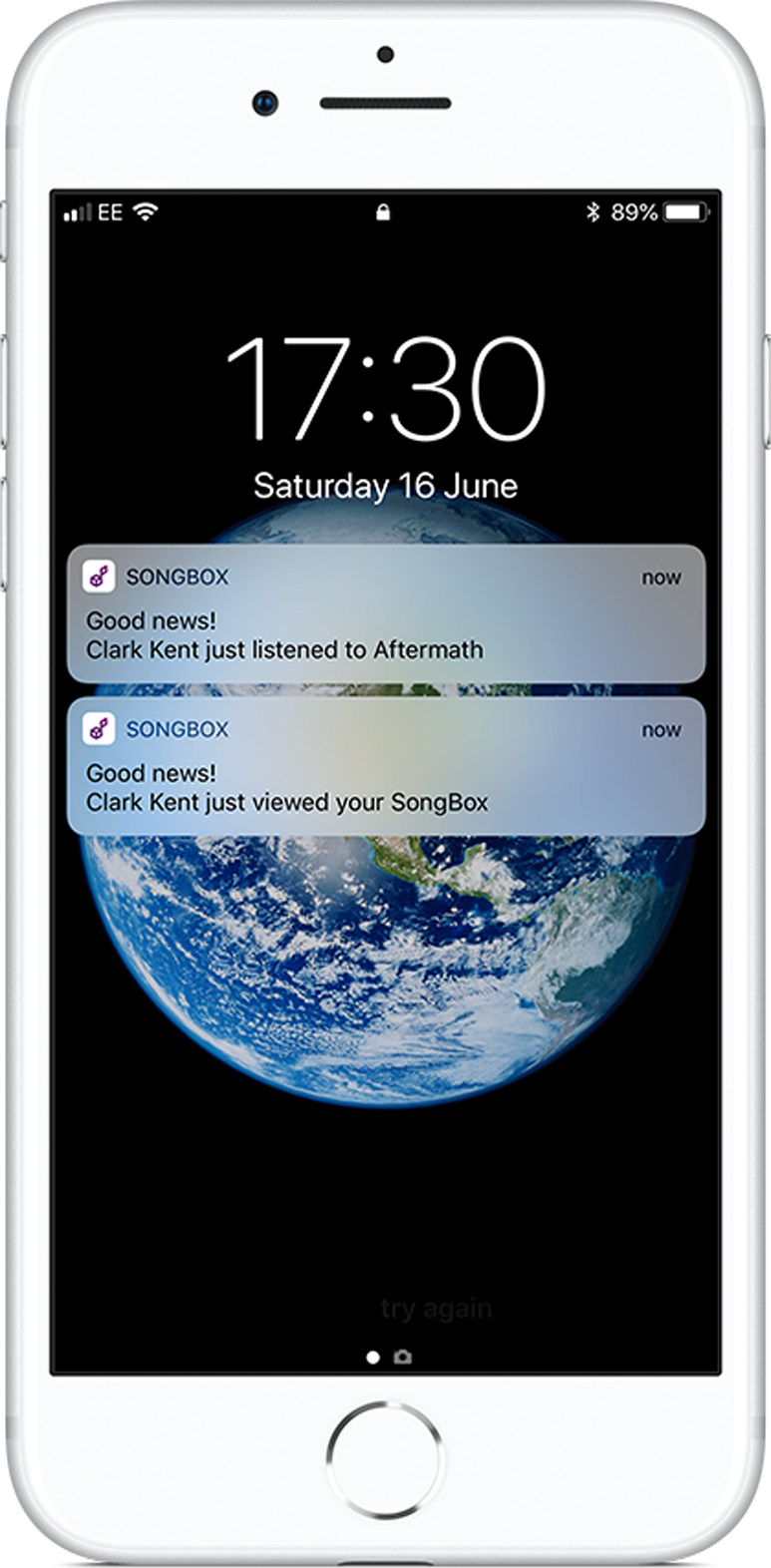 Get notified immediately when someone you've sent music to starts to play it.